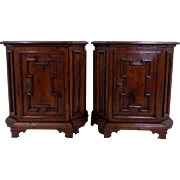 Pair of 19th Century Antique Italian Renaissance Style Cabinets