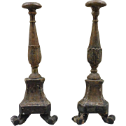 Pair of 18th Century Antique French Louis XVI Period Candlesticks