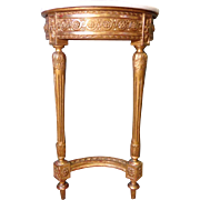 19th Century Antique French Louis XVI Style Demi Lune Console