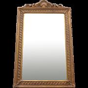 Antique French Napoleon III Style Giltwood Mirror