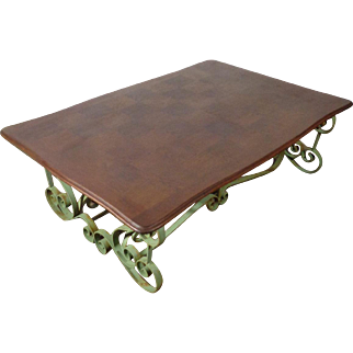 Antique French Louis XV Wrought Iron Coffee Table