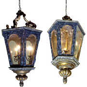 Large Pair of French Louis XV Style Lanterns