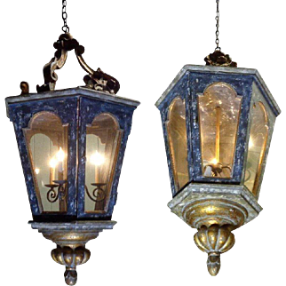 Large Pair of French Louis XV Style Lanterns