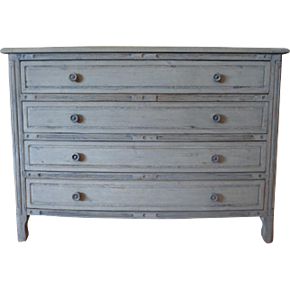French Louis XVI Style Beech Bombe Chest Of Drawers