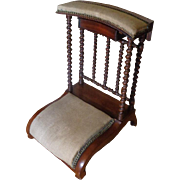 19th Century Antique French Walnut Prayer Chair Prie Dieu