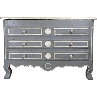 18th Century Antique French Faux Commode Trunk