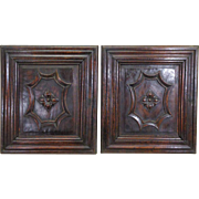 Pair of 19th Century Antique Renaissance Oak Panels