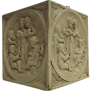 Antique Italian Terra Cotta Planter With Cherubs