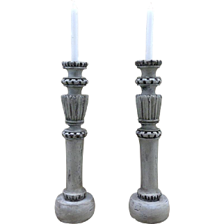 Pair of 19th Century Antique French Candle Holders.