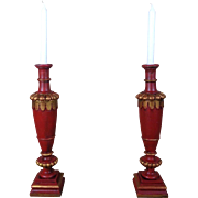 Pair of 19th Century Antique French Napoleon III Period Candle Holders.