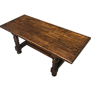 19th Century Antique French Renaissance Style Oak Coffee Table