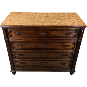 19th Century Antique French Louis XVI Style Walnut Commode