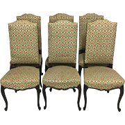 Set of 6 19th Century Antique French Louis XV Dining Chairs
