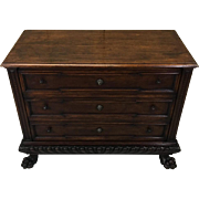 19th Century Antique Italian Walnut Commode