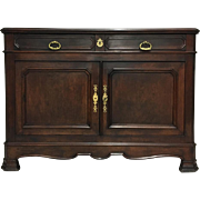 19th Century Antique French Walnut Navy Theme Buffet