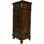 19th Century Antique French Louis XVI Style Walnut Nightstand