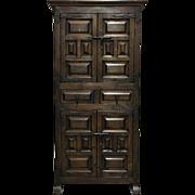 Antique Spanish Renaissance Style Cabinet Bar