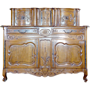 19th Century Antique French Louis XV Style Walnut Buffet Glissant
