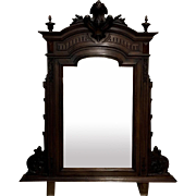 19th Century Antique French Napoleon III Period Walnut Vanity Mirror