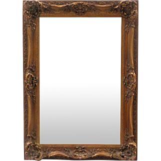 Antique French Louis XV Rococo Style Rectangular Mirror