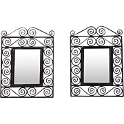 Pair of Spanish Wrought Iron Mirrors