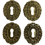 Set of 4 19th Century French Empire Period Escutcheons