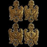 Set of 4 19th Century French Napoleon III Period Escutcheons