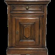 Italian Renaissance Style Walnut Nightstand