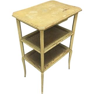 19th Century French Louis Philippe Period Caned Side Table