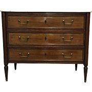 French Louis XVI Style Mahogany Parisian Commode