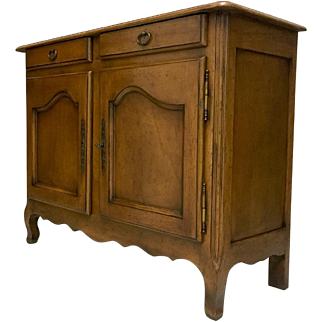 Provincial French Louis XV Style Walnut Buffet