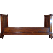 19th Century Antique French Louis Philippe Period Walnut Daybed