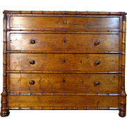 19th Century Antique French Faux Bamboo Commode