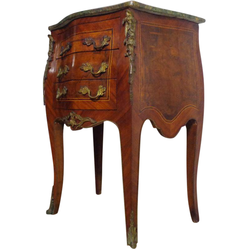 antique french louis xv style burl mahogany commode sold. Black Bedroom Furniture Sets. Home Design Ideas