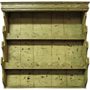 18th Century Antique French Pine Wall Vaisselier