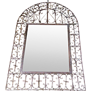 19th Century Antique Spanish Wrought Iron Mirror