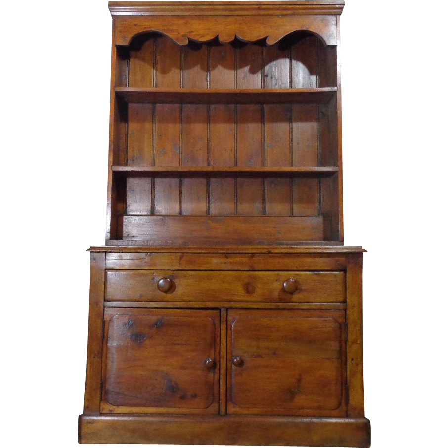 19th century antique irish pine cupboard vaisselier from. Black Bedroom Furniture Sets. Home Design Ideas