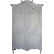 18th Century Antique French Louis XV Period Pine Wedding Armoire