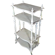 Antique French Louis XV Style Walnut Painted Shelf