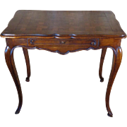 19th Century Antique French Louis XV Style Walnut Side Table