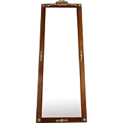 19th Century Antique French Parisian Mahogany Mirror