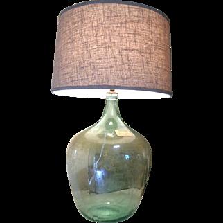 Antique Demijohn Lamp 19th Century Bonbonne