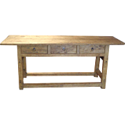 19th Century Antique Irish Pine Console