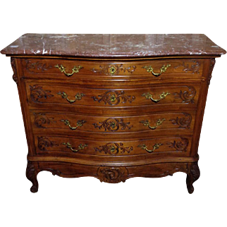 19th Century Antique French Louis XV Style Commode