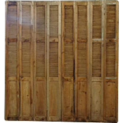 Facade of 19th Century Antique French Folding Shutters