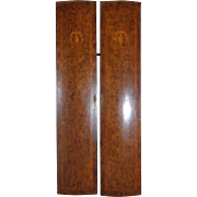 Pair of 19th Century Antique French Burl Mahogany Doors
