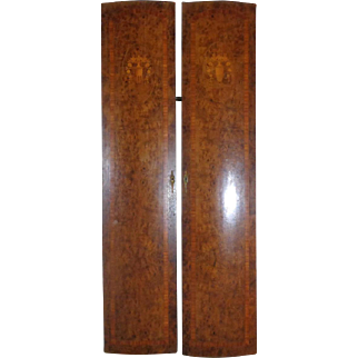 Pair of 19th Century Antique French Burl Mahogany Doors