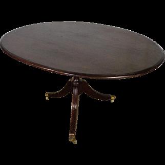 Antique English Regency Mahogany Gueridon Table