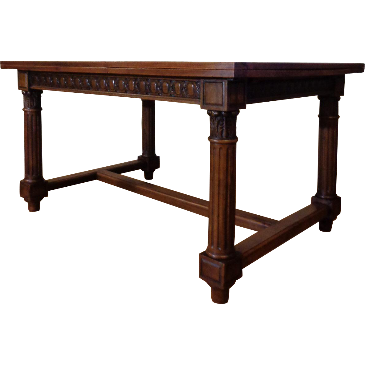 19th Century Antique French Renaissance Style Walnut Dining Table