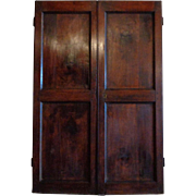 Pair of 19th Century Antique French Walnut Doors/ Facade